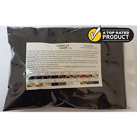 Hair Building Fibers 57 Grams. Highest Grade Refill That You Can Use for Your Bottles From Competitors Like Toppik?, Xfusion?, Miracle Hair? (Black)