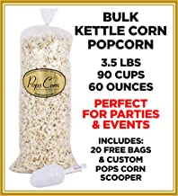Gourmet Kettle Corn Popcorn-Bulk-Wholesale-5 Gallons-90 cups-60 oz -Free Scooper