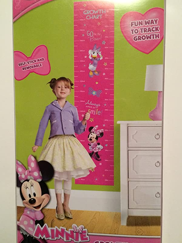 Minnie Mouse Self Stick Removable Growth Chart