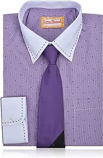 JAMES MORGAN Boys Polka Dot Dress Shirt with Tie - Sizes 8-20