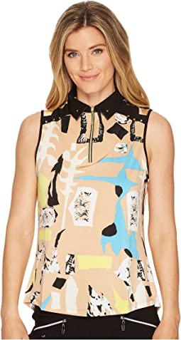 Cirque Print Sleeveless Top