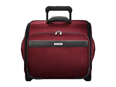 Briggs & Riley Transcend VX Rolling Cabin Bag (Merlot Red) Bags