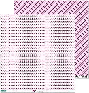 Anita y Su Mundo Collection Mosaïque Papier de scrapbooking, papier, cercles, 30,5 x 30,5 cm