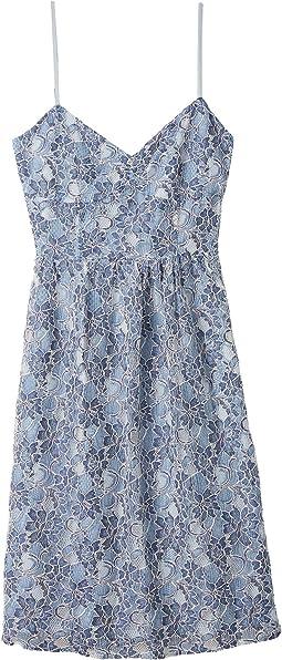 Two-Tone Lace Sweetheart Midi Dress