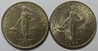 twenty five centavos 1966