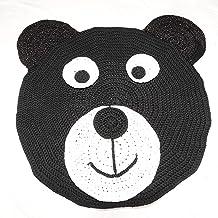 مشاية غرفة أطفال شكل دب أسود كروشيه