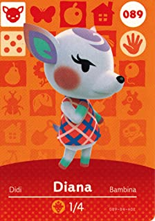Animal Crossing Happy Home Designer Amiibo Card Diana 089/100