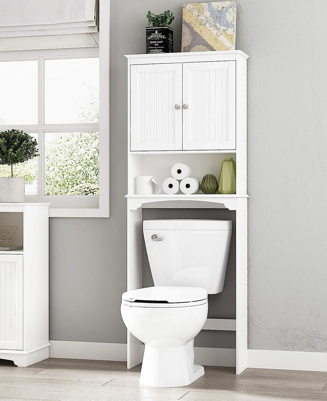 Spirich Home Bathroom Shelf Over-The-Toilet, Bathroom SpaceSaver, Bathroom  Storage Cabinet Organizer, White : Amazon.co.uk: Home & Kitchen
