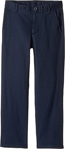 Regular Flat Front Twill Stretch Pants (Little Kids/Big Kids)