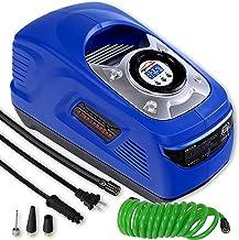 EPAUTO AC 110V / DC 12V Dual Power Portable Air Compressor Pump w/Digital Tire Inflator,..
