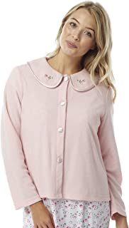 Sizes 10//12-18//20. 2 Colours Ladies Fleece Heart Print Long Sleeved Pyjamas