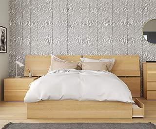 Lagos 3 Piece Queen Size Bedroom Set Natural Maple