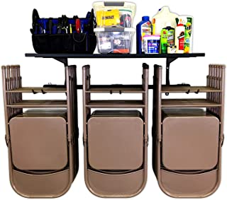 StoreYourBoard Omni Chair Storage Rack and Storage Shelf, Folding and Beach Chair Wall Mount, Home and Garage Hook Hanger System