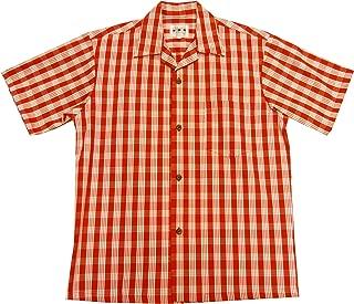 Men's Classic Hawaiian Paniolo Palaka Plaid Shirt