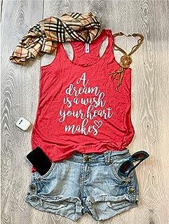 A Dream Is A Wish Your Heart Makes/Disney Joyful Trip/True To Women's Fit/Women's Eco Tri-Blend Tanks/Women Clothing/Disney Trip Shirt/Disney Clothing/Triblend Tank/Free Shipping//