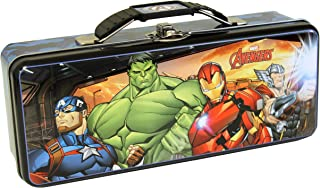 The Tin Box Company Avengers Pencil Box with Handle Clasp & Hinge