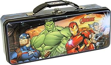 The Tin Box Company Avengers Pencil Box with Handle Clasp & Hinge