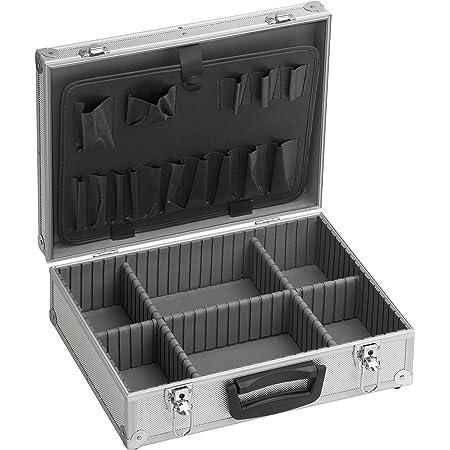 Max-Power, Alluminio Valigetta Porta Attrezzi, Rinforzato, Interni in Gomma Piuma, Divisori Removibili, Chiusura di Sicurezza, 395 x 300 x 130 mm, 395X300X130 mm