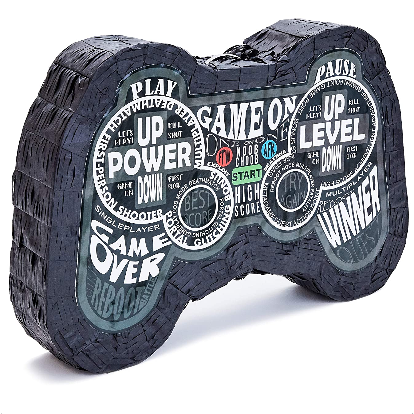 Juvale Video Game Controller Pinata, Birthday Gamer Party Decorations, Size Medium, 16.5 x 11 x 3 Inches