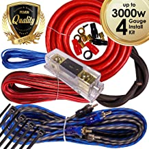 Gravity BGR-KIT4-R-PK2-3000W Complete 3000W 4 Gauge Amplifier Installation Wiring Kit Amp Pk2 4 Ga for Installer and DIY Hobbyist - Perfect for Car/Truck/Motorcycle/Rv/ATV, 3000W / RED