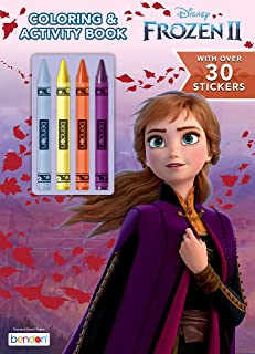 Disney Frozen 2 48-Page Coloring and Activity Book with 4 Crayons and 30 Stickers 45846