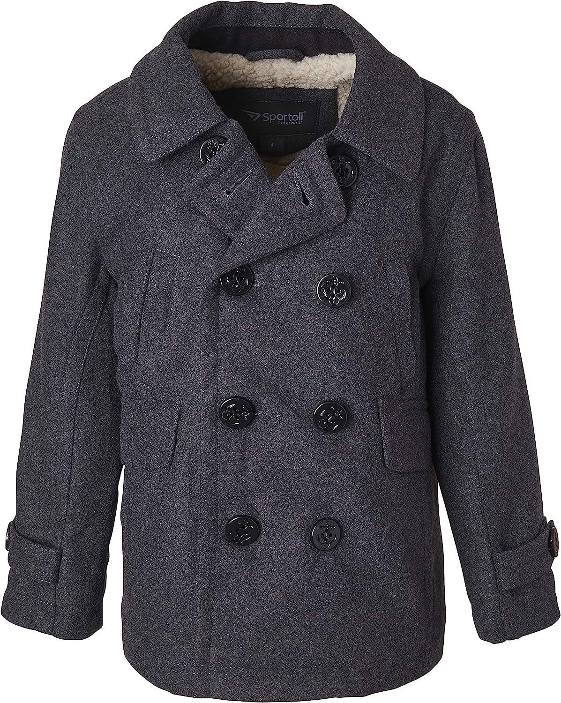 Sportoli Boy Classic Wool Blend ついに入荷 Dress 半額 Winter Sherpa Coat Pea