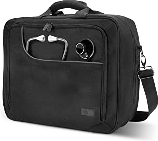Medical Equipment Supplies Bag for Doctors, Pharmaceutical Reps, Nurses and Vet Techs by USA Gear - Water & Scratch Resistant, Shoulder Strap & Adjustable Storage Compartments for Medication