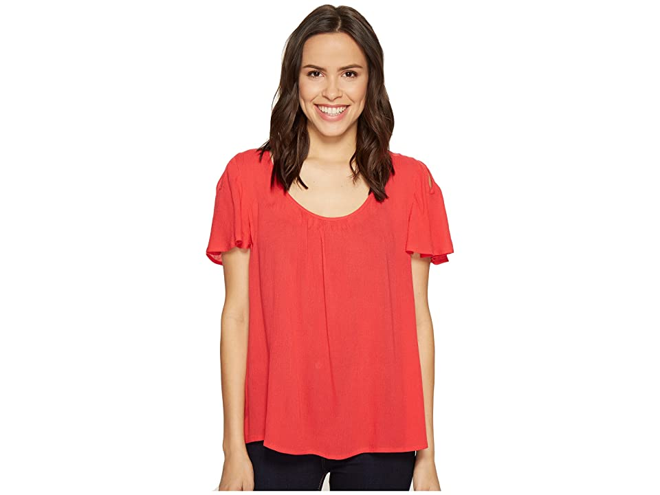 B Collection by Bobeau Judy Keyhole Top (Fuchsia) Women