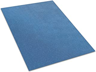 Koeckritz 7'x12' - Cobalt - Indoor/Outdoor Area Rug Carpet, Runners & Stair Treads with a Premium Nylon Fabric Finished Edges.