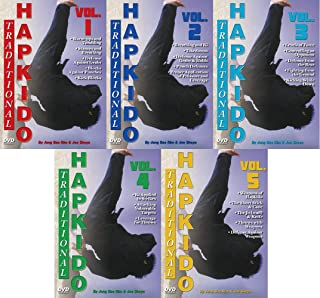 Empire Books 5 DVD Set Traditional Hapkido Groundfighting Ki Weapons DVD GM Jong Bae Rim