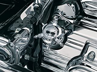 Kuryakyn 1052 Motorcycle Accent Accessory: Zombie Skull Oil Filler Cap for 1993-2006 Harley-Davidson Motorcycles, Chrome