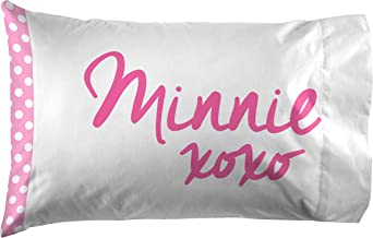 Jay Franco Disney Minnie Mouse XOXO 1 Pack Pillowcase - Double-Sided Kids Super Soft Bedding (Official Disney Product)
