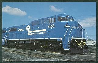 Conrail Engine Train Unit 6053 C40-8 Railroad Wide Nose Diesel Postcard