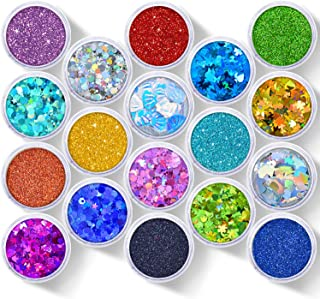 Glitter Wenida 18 Styles 130g Holographic Cosmetic Festival Makeup Chunky Powder for Body Nail Hair Eye Face