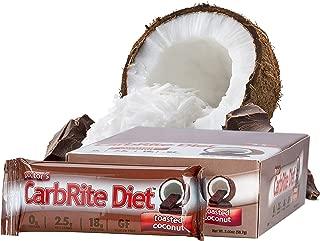 CarbRite Diet - 2.5g net Carbs - Gluten Free - Sugar Free - Protein Bar - Tasted Coconut 2oz bar, 12 count