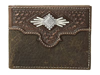 M&F Western Aztec Concho with Lace Bifold Wallet (Medium Brown) Wallet Handbags