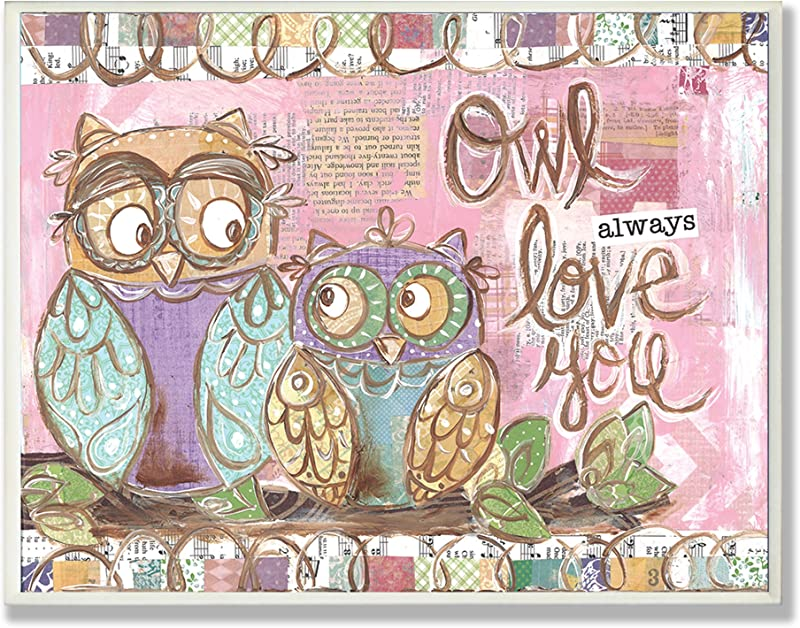 The Kids Room By Stupell Owl Always Love You Pastel Rectangle Wall Plaque