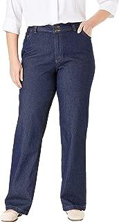 Women's Plus Size Wide Leg Cotton Jean