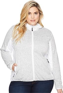 Roper - Plus Size 1465 Grey Melange Jacket with Hood