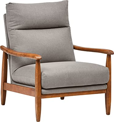 "Amazon Brand – Stone & Beam Alderman Mid-Century Modern Accent Chair, 29.9""W, Grey"