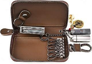 Sponsored Ad - 5-in-1, Multi Leather Key Wallet, Key Case, Keychain Chargable Flashlight, Mini Keychain Knife of Multi Nai...