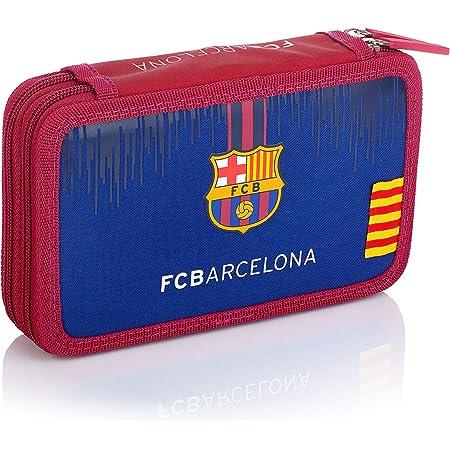 FC Barcelona Estuche con Accesorios - Doble FC-236 Barcelona Barca Fan 7 Estuche 20 cm Azul Marino