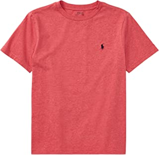 Ralph Lauren Polo Boys' Short Sleeve Crewneck T-Shirt (M(18-20) AdirondackRed)