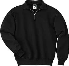 jerzees 1 4 zip cadet collar sweatshirt