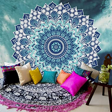 Sunm Boutique Tapestry Wall Hanging Indian Mandala Tapestry Bohemian Tapestry Hippie Tapestry Psychedelic Tapestry Wall Decor