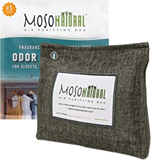 MOSO NATURAL Stand-Up Air Purifying Bag 300g. Odor Eliminator, Odor Absorber for Closet and Bathroom.