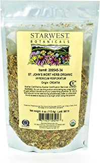 Starwest Botanicals Organic St. John's Wort Herb C/S, 4 Ounces