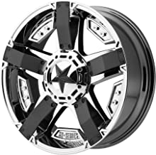 XD SERIES BY KMC WHEELS XD811 ROCKSTAR II PVD with Matte Black Accents Wheel with Chrome and Chromium (hexavalent compounds) (20 x 9. inches /5 x 74 mm, 30 mm Offset)