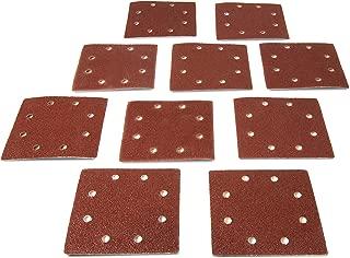WEN 6304SP120 1/4-Sheet Sander 120-Grit Hook-and-Loop Sandpaper (10-Pack)