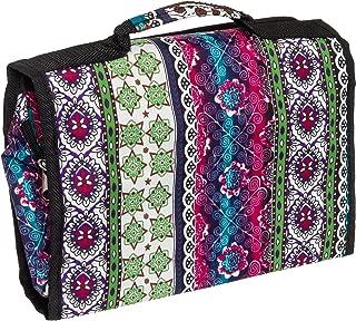 Silverhooks Women's Travel Cosmetic Organizer Bag (Boho W/Black Trim)